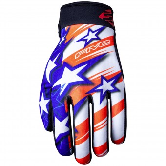 Motorcycle Gloves Five Planet Patriot Kid USA