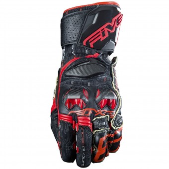 Motorcycle Gloves Five RFX Race Black Red