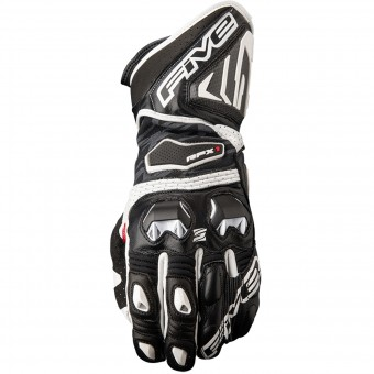 Motorcycle Gloves Five RFX1 Black White