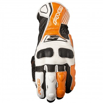Motorcycle Gloves Five RFX4 Replica White Orange