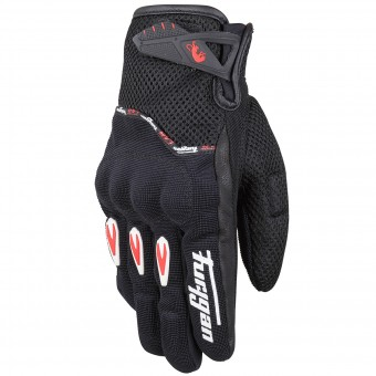 Motorcycle Gloves Furygan Rocket Evo Black White Red