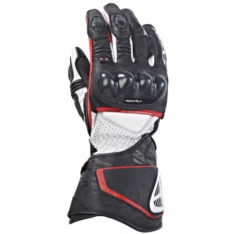 Motorcycle Gloves Ixon Rs Circuit Hp Black White Red