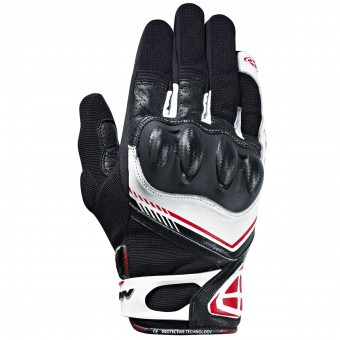 Motorcycle Gloves Ixon RS Drift Black White Red