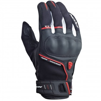 Motorcycle Gloves Ixon RS Grip HP Black White Red