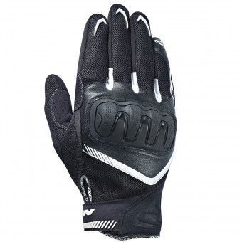 Motorcycle Gloves Ixon RS Loop Black White