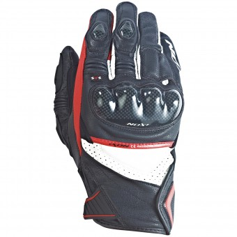 Motorcycle Gloves Ixon RS Pistol Hp Black White Red