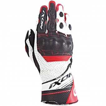 Motorcycle Gloves Ixon Rs Rallye Hp Black White Red