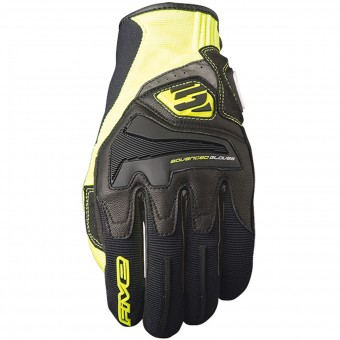 Motorcycle Gloves Five RS4 Black Yellow Fluo