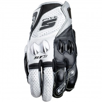 Motorcycle Gloves Five SF1 White Grey