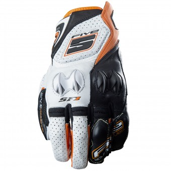 Motorcycle Gloves Five SF1 White Orange