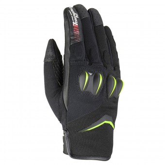 Motorcycle Gloves Furygan Sisko Black Fluo Green
