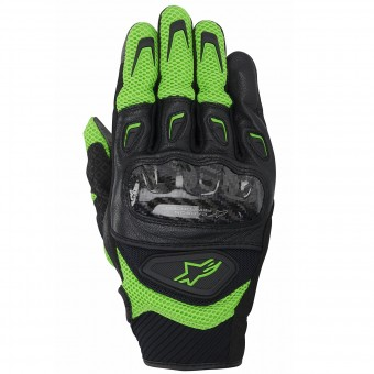 Motorcycle Gloves Alpinestars SMX-2 Air Carbon Green Black