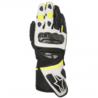 Motorcycle Gloves Alpinestars SP-1 Black White Yellow Fluo