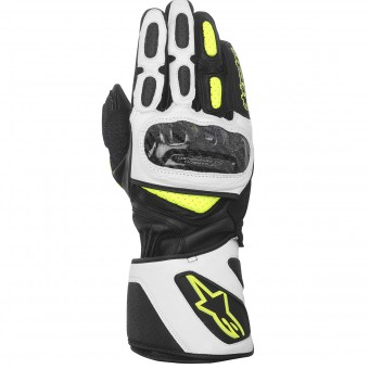 Motorcycle Gloves Alpinestars SP-2 Black White Yellow Fluo