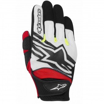 Motorcycle Gloves Alpinestars Spartan White Yellow Red
