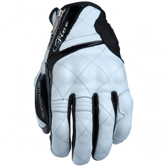 Motorcycle Gloves Five Sport City Woman White Black