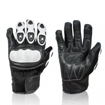 Motorcycle Gloves Darts Spy White