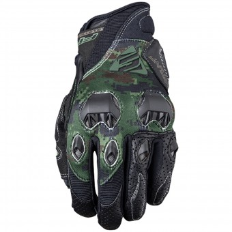 Motorcycle Gloves Five Stunt Evo Replica Army