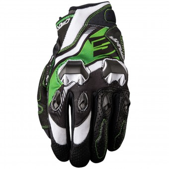 Motorcycle Gloves Five Stunt Evo Replica Icon Green
