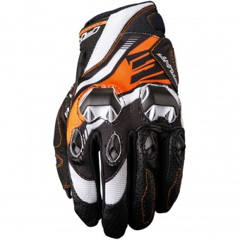 Motorcycle Gloves Five Stunt Evo Replica Icon Orange