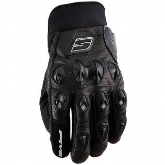 Motorcycle Gloves Five Stunt Leather Black