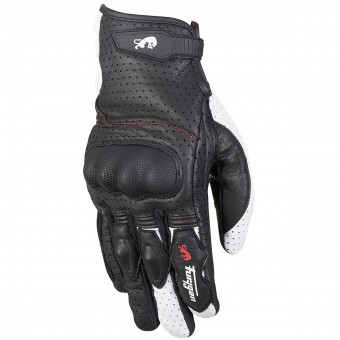Motorcycle Gloves Furygan TD21 Black White Red