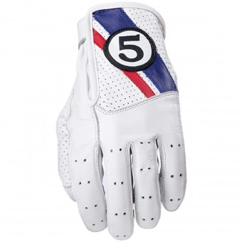 Motorcycle Gloves Five Texas White Blue
