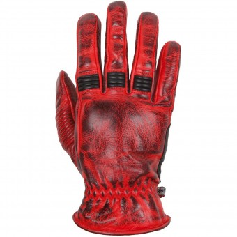 Motorcycle Gloves Helstons Velvet Summer Red Black