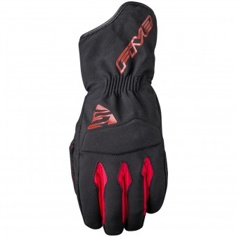 Motorcycle Gloves Five WFX3 WP Black Red