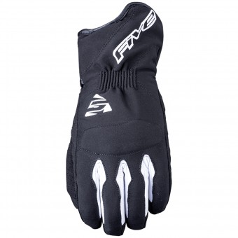 Motorcycle Gloves Five WFX3 WP Black White