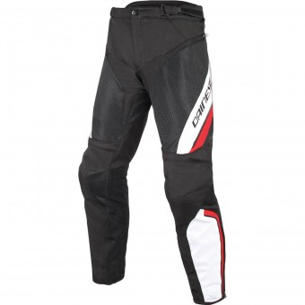 Motorcycle Trousers Dainese Drake Air D-Dry Black White Red