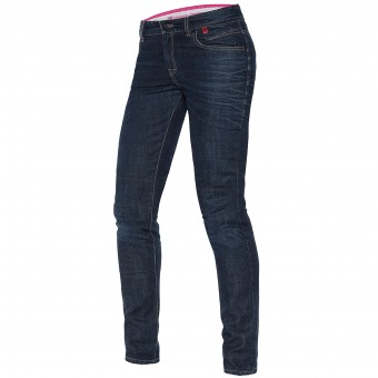Motorcycle Trousers Dainese Belleville Slim Lady 3D Washed