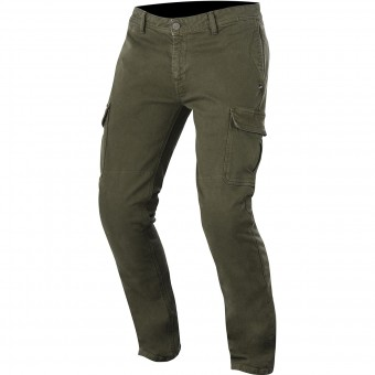Motorcycle Trousers Alpinestars Deep South Denim Cargo Military Green