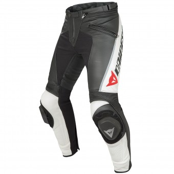 Motorcycle Trousers Dainese Delta Pro C2 Black White