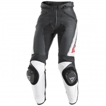 Motorcycle Trousers Dainese Delta Pro C2 Lady Black White