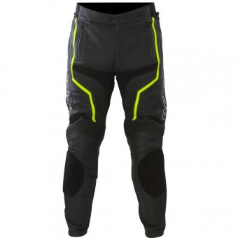 Motorcycle Trousers Bering Flash Pant Black Yellow Fluo