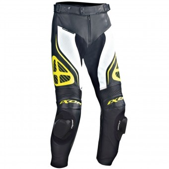 Motorcycle Trousers Ixon Orcus Pant Black White Yellow