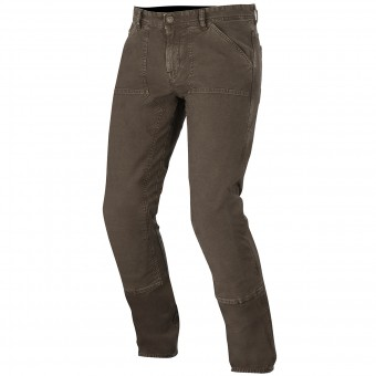 Motorcycle Trousers Alpinestars Oscar Tom Canvas Brown
