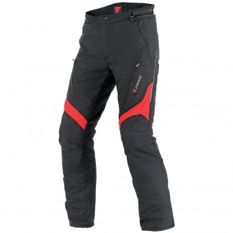 Motorcycle Trousers Dainese Tempest D-Dry Black Red Pant