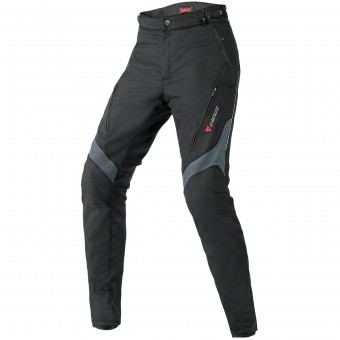 Motorcycle Trousers Dainese Tempest Lady D-Dry Black Dark Grey Pant