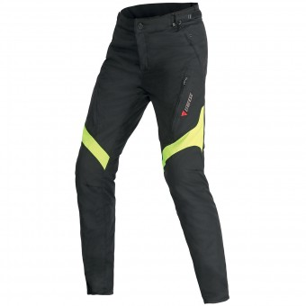 Motorcycle Trousers Dainese Tempest Lady D-Dry Black Yellow Fluo Pant