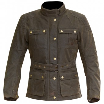 Motorcycle Jackets Merlin Ashley Wax Lady Olive