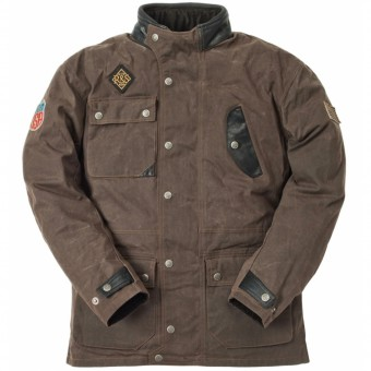 Motorcycle Coats Ride & Sons Escape Waxed Brown
