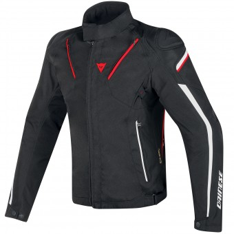 Motorcycle Jackets Dainese Stream-Line D-Dry Black Red White