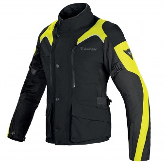 Motorcycle Coats Dainese Tempest Lady D-Dry Black Yellow Fluo