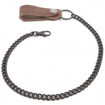 Novelty Items Helstons Brown Leather Wallet Chain