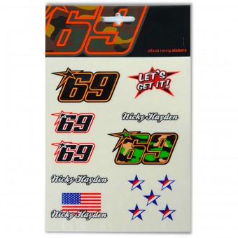 Novelty Items Nicky Hayden Large Sticker Hayden 69