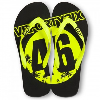 Novelty Items VR 46 Sandals Black Yellow VR46