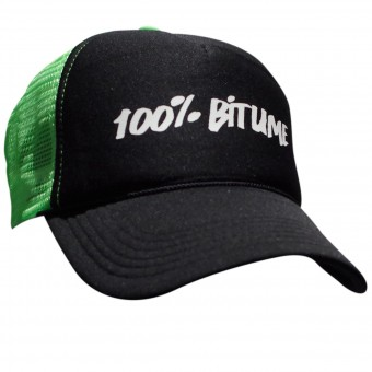 Motorcycle Caps 100% Bitume Cap Asphalt Black Fluo Green