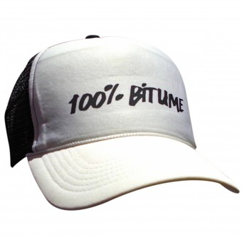 Motorcycle Caps 100% Bitume Cap Asphalt Black White